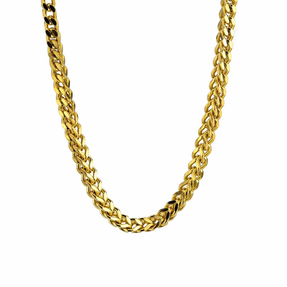 Goldsmith stainless steel ψαροκόκκαλη αλυσίδα λαιμού