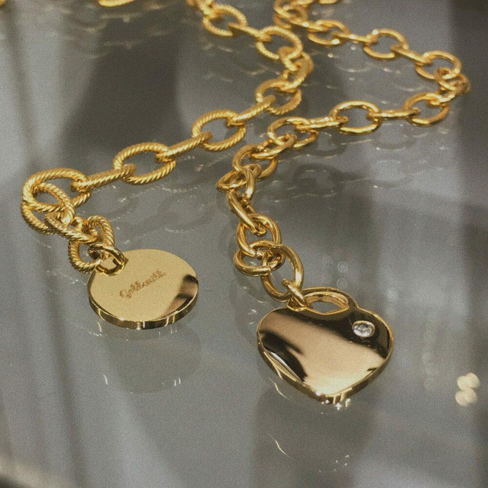 Goldsmith αλυσίδα χεριου με κρεμαστό κύκλο